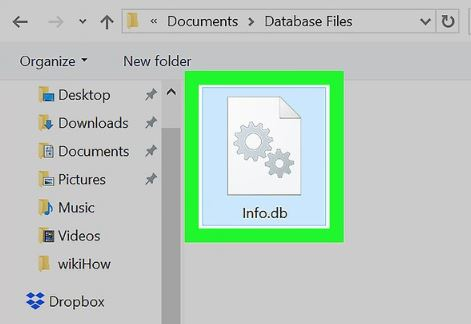 open database file